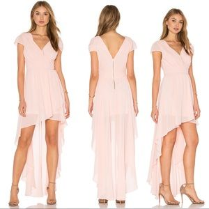 TFNC London Hadie Hi Lo Dress in Crystal Pink S